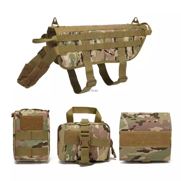 Dog Vest tactical gear camouflage color