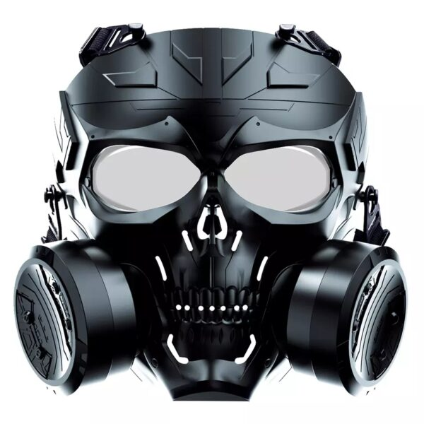 Airsoft Mask Biochemical Machinery With Dual Fan PC black