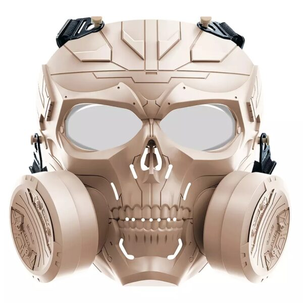 Airsoft Mask Biochemical Machinery with Double Fan PC, Brown