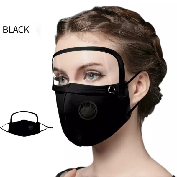 Coldproof mask with visual protection Black