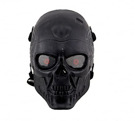 Terminator T800 Skull Protective Black Tactical Full Face Airsoft Mask