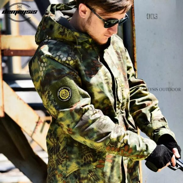Army Tactical Jacket Men Green Camouflage