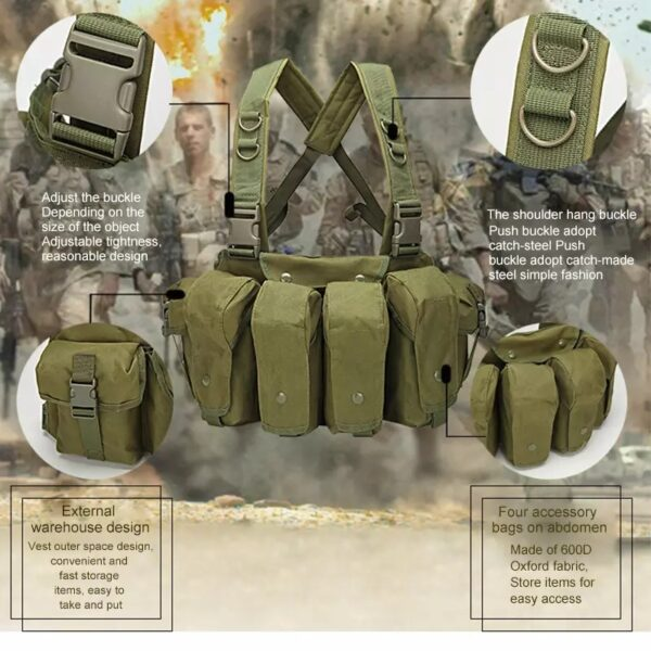 Chest Rig Tactical Vest Military Army Equipment Holster