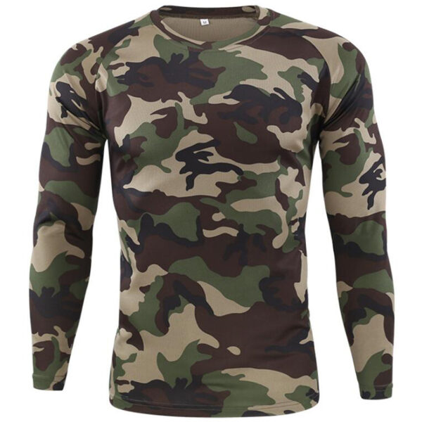 Tactical Military Camouflage Long Sleeve T-Shirt