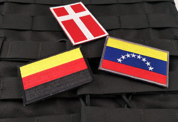 Embroidered Flags Velcro Badge