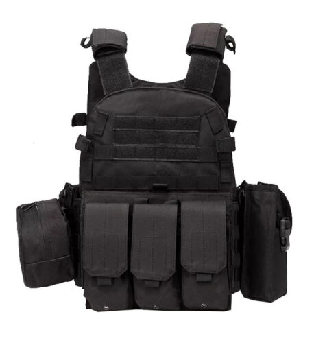 Multi POCKET DESIGN Tactical Vest, Black.