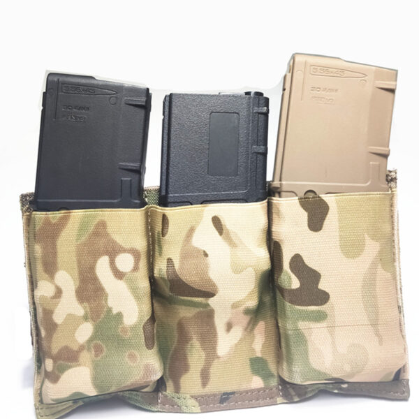 Triple M4 Mag Pouch Tactical Molle Rapid Reloading Magazine