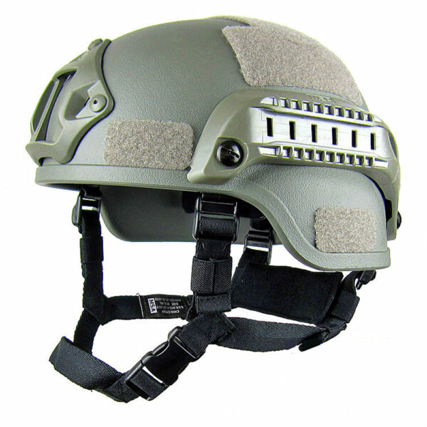 Tactical outdoor shooting helmet MICH 2000 Airsoft green color