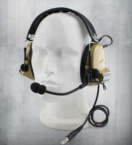 Green tactical headphones