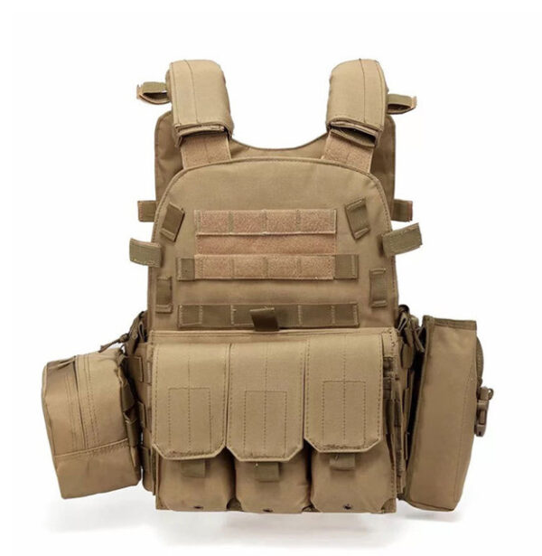 Multi POCKET DESIGN Tactical Vest, Sand