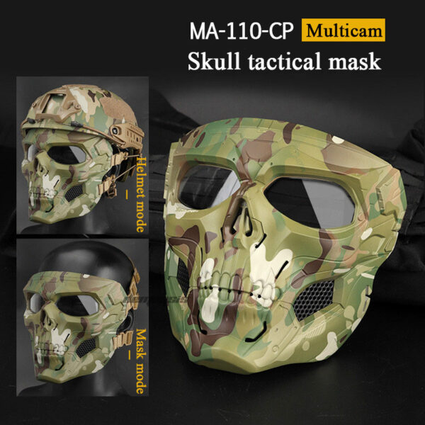 Airsoft Skull Tactical Mask multicam
