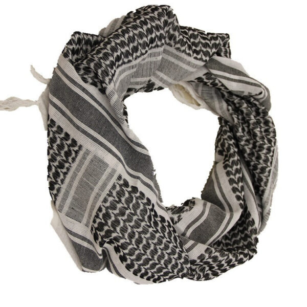 White Arabian Winter Camouflage Military Scarf
