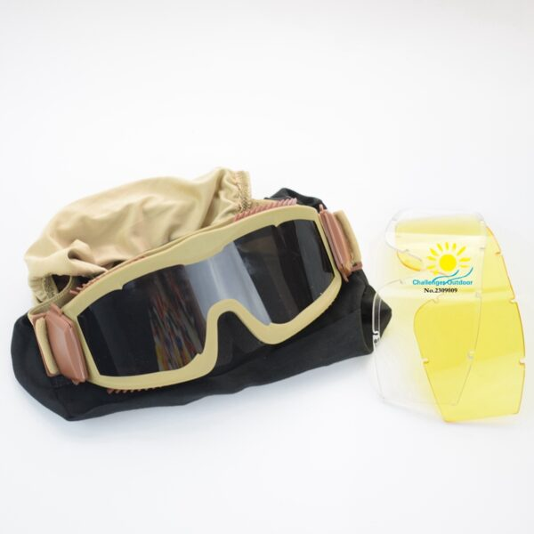 Desert Color Tactical Airsoft Military Goggles