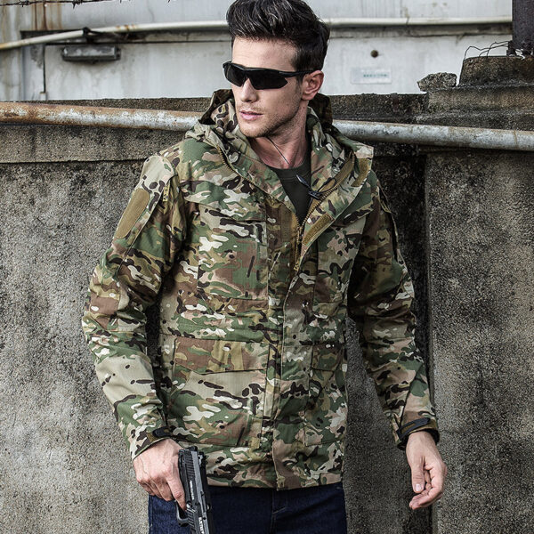 Men's Army Green Anti-cut Anti-Gun Self Defense Safety Jacket