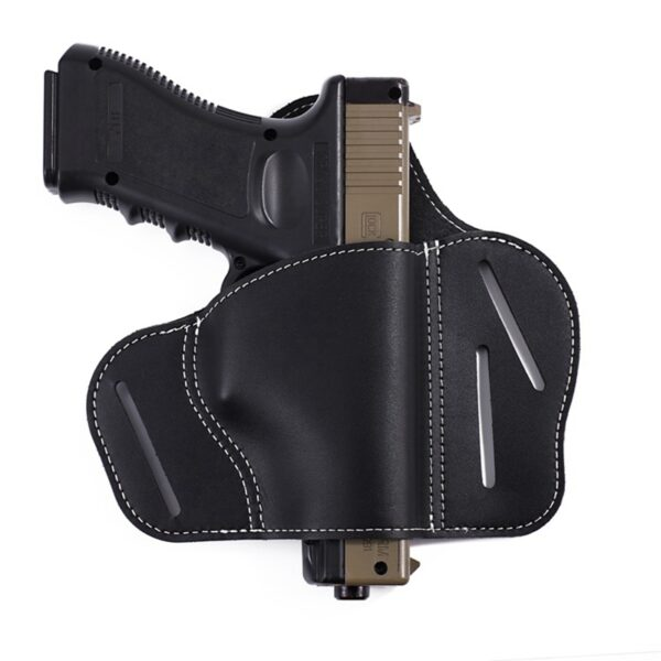 Universal bull leather black invisible tactical pistol holster