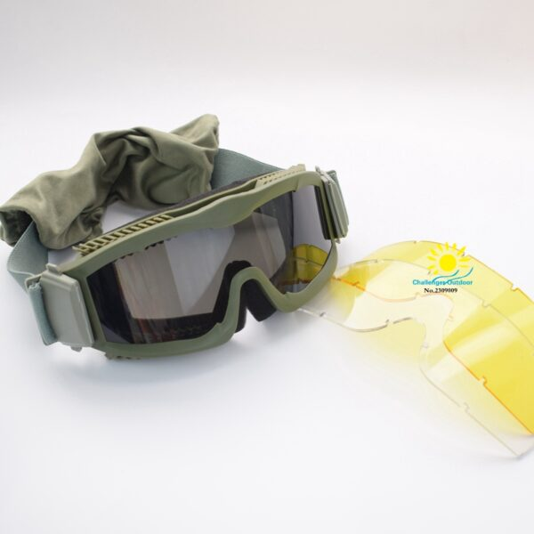 Green Tactical Airsoft Military Goggles