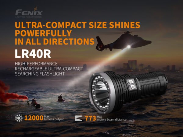 LR40R High Performance Rechargeable Ultra-Compact Search Flashlight