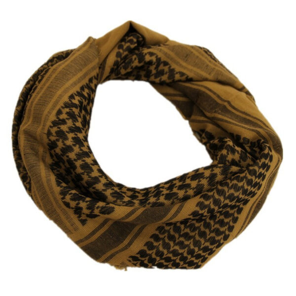 Tan Color Arabic Winter Camouflage Military Scarf