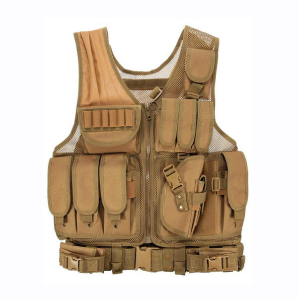 Tactical Military Equipment Training Vest Brown