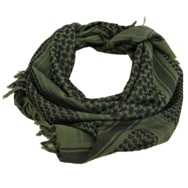 Green Arabian Winter Camouflage Military Scarf