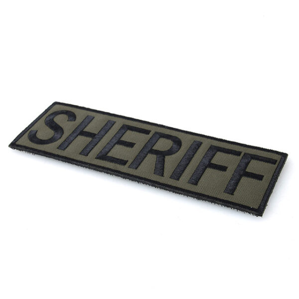 Embroidery Sheriff Patches Badge green