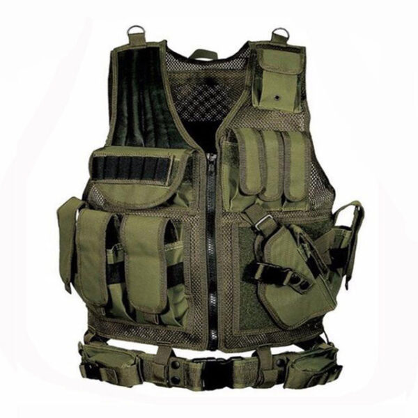 Tactical Military Equipment Training Vest green
