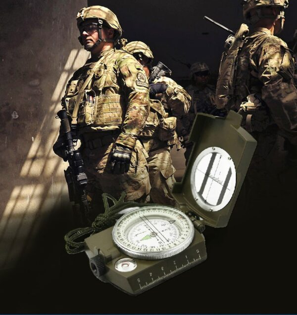 Green military compass
