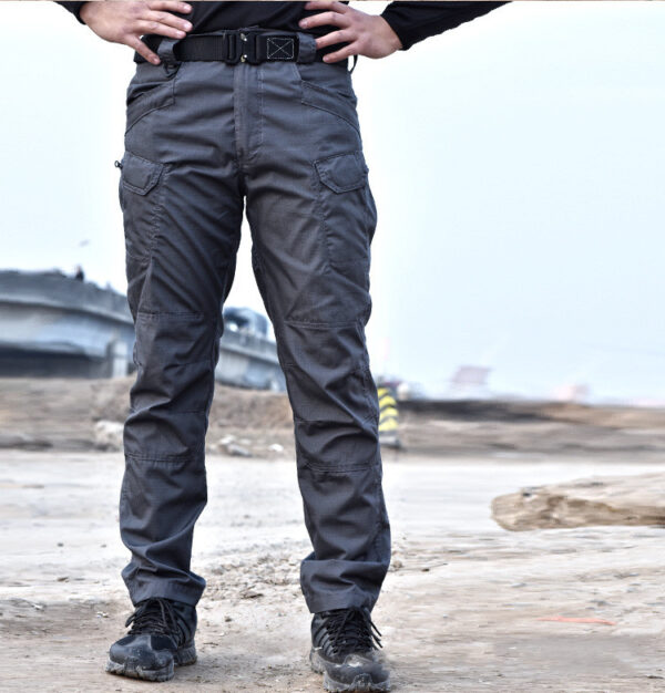 Black military tactical cargo pants for men