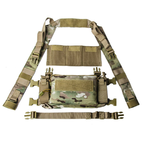 Tactical Micro Chest Gear, Modular D3CR Camouflage H-Harness
