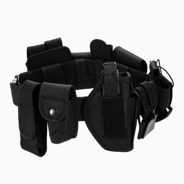Military tactical belt pistol holster and 10 accessories