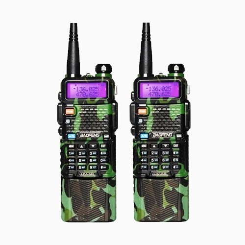 Walkie talkie Transmitter Traditional Green Camouflage Color