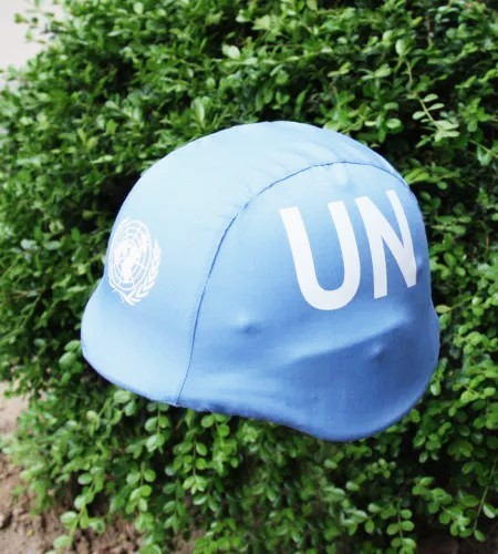 United States Peacekeeping Force M88 Tactical Helmet Cover,