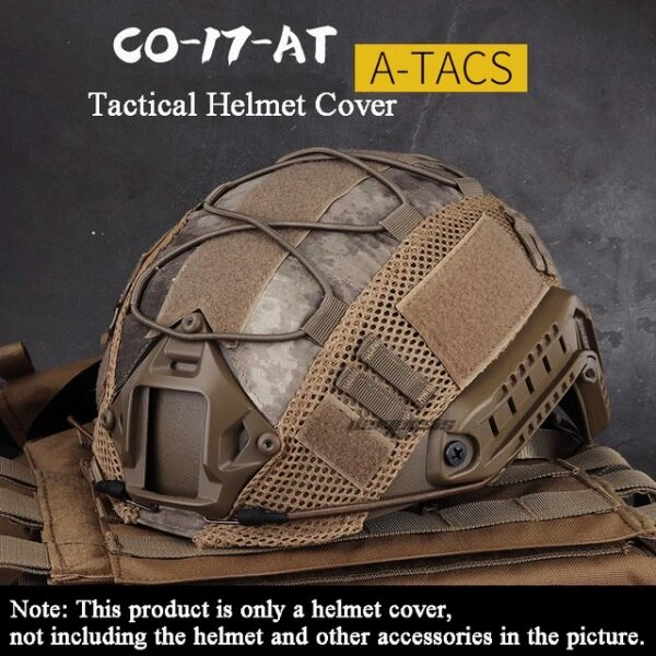 A-TACS camuflage tactical helmet cover