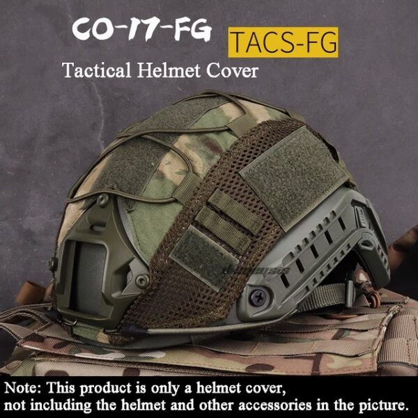 TACS-FG camuflage tactical helmet cover