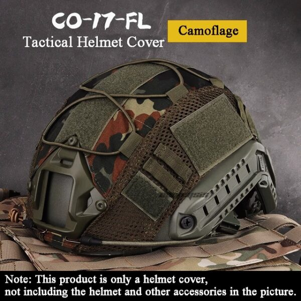 Camuflage tactical helmet cover