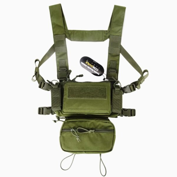 Tactical Micro Chest Gear, Modular D3CR H-Harness green