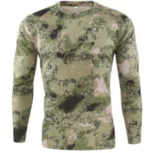Tactical Military green ruins Camouflage Long Sleeve T-Shirt