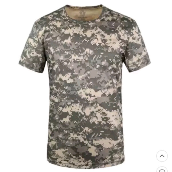 Quick Dry Tactical Short Sleeve T-shirts ACU camouflage