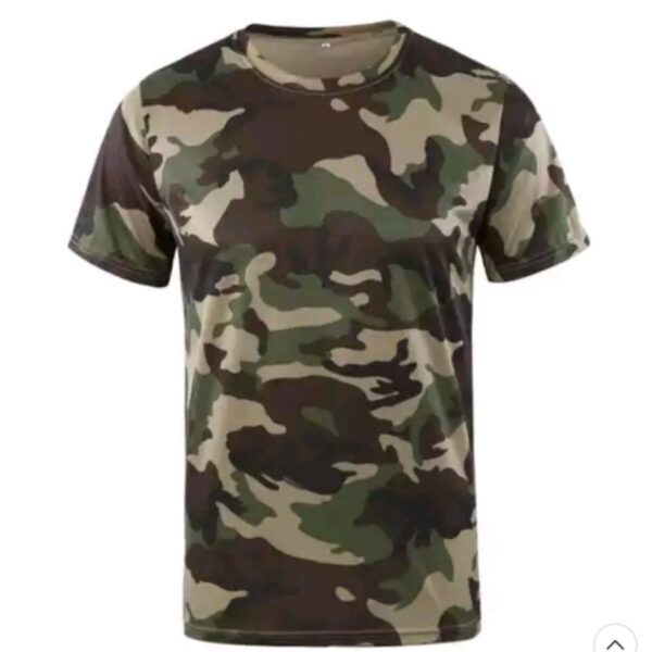 Quick Dry Tactical Short Sleeve T-shirts camouflage green