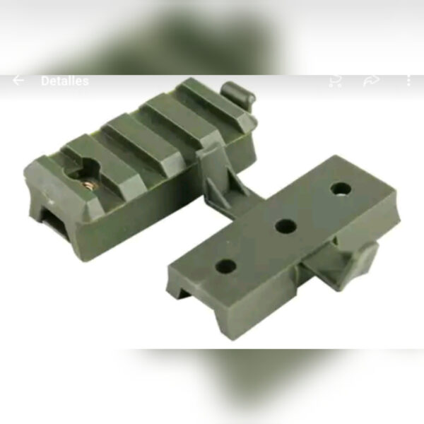 Tactical Military Helmet Rail Adapter, Green