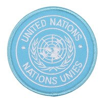 UNITED NATIONS NATIONS UNIES BADGE PATCH EMBROIDERY