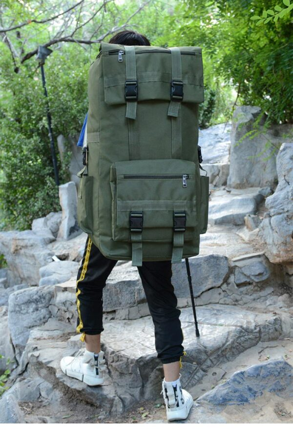 Green Camping Backpack Large Army 110L /130L
