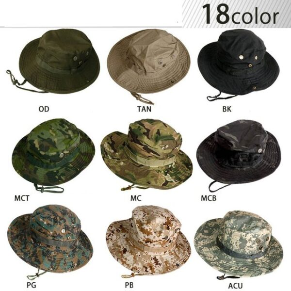 Camouflage boonie tactical hat 18 colors