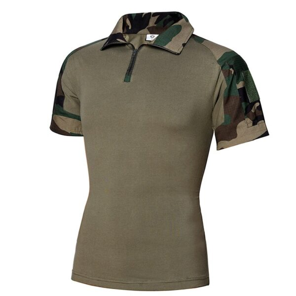 Military T-shirt Special Forces short sleeve camouflage shoulder
