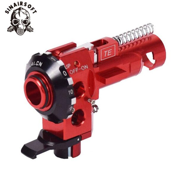 Tactical High precision PRO CNC Aluminum Red Hop up Chamber with LED For M4 M16 AEG