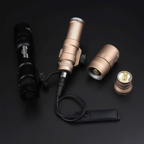 Super Bright Rifle Weapon Tactical Flashlight with Remote Pressure Switch