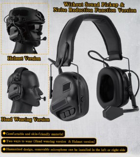 Inexpensive Tactical noise-canceling headphones